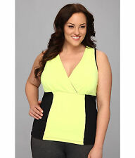 MSP BY MIRACLESUIT Color block Tank Interior Bra YELLOW black Size 2X XXL New