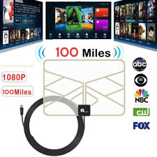 1byone Digital TV Indoor Antenna Aerial 100 Miles Gain FM DAB 0.5mm Paper Soft