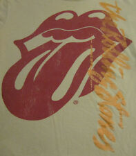 official licensed THE ROLLING STONES logo lips concert tour shirt womens XL smal