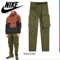 $180 NEW NWT Men's Nike Woven ACG Cargo Ace Carrier Pants CD7646-325 Army Green