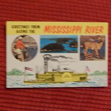 Vintage Postcard Greetings From Along The Mississippi River