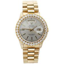 Mens 18K Yellow Gold Diamond Watch 36mm Rolex President Day-Date 18038 3.75 Ct.