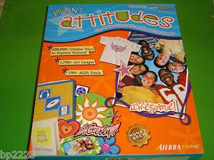 Sierra Print Attitudes Kit, 1,700+ Art Images, 100+ AGFA Fonts w/CD ROM, NEW
