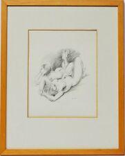 Zeichnung Gigi Busato Frauen Akt Frauenakt 1985 Sammlung Karl Schott 40 x 32 cm