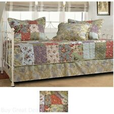 Daybed Set Comforter Pillow Sham Bed Quilt Patchwork Vintage Look Home Cover New