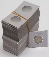 100 PREMIUM PAPER & MYLAR 2x2 DIME COIN HOLDER FLIPS