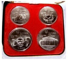 """CANADA"" 1976 PROOF OLYMPIC STERLING SILVER COIN SET 2 X $10 & 2 X $5 COINS"