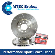 BMW E46 330d 330i 330ci Front MTEC Drilled Grooved Brake Discs & Mintex Pads