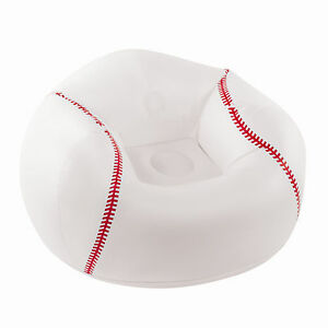 RELAX ARM CHAIR~TV GAMES BED ROOM SOFA~KIDS PORTS INFLATABLE BEAN BAG~BASEBALL
