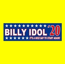 """Billy Idol '20"" hard rock Bumper Sticker White Wedding President Rebel Yell"