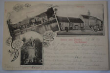 Ak Gruss aus Dauba, Teichdamm, Marktplatz, Kaiser Joseph Denkmal, 1903 gelaufen