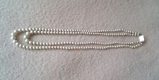VINTAGE CIRO DOUBLE STRAND PEARL NECKLACE WITH 9 CT GOLD CLASP