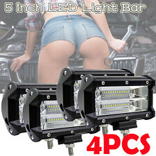 "4x 5"" inch 120000LM CREE LED Work Light Bar SPOT Quad Row Off Road 4x4 Worklight"