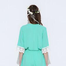 Cotton Bridesmaid Lace Robes With Trim Women Wedding Bridal Robe Short  Bathrobe L xl MINT 50448c345