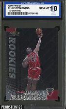 1999 Finest With Coating #110 Elton Brand Chicago Bulls ISA 10 GEM MINT