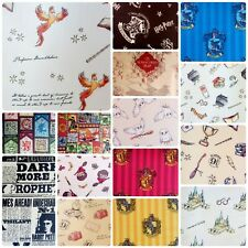 HARRY POTTER Hogwarts Licensed Cotton Fabrics, PER FAT QUARTER Free UK Post