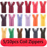 10Pcs/lot 8in Nylon Invisible Coil Zippers Tailor for Sewing Crafts Multi-color