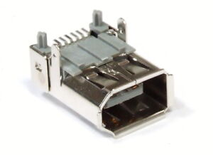 6-Pin Pole Fire-Wire 1394 Port Connector SMD Solder Plug Recessed
