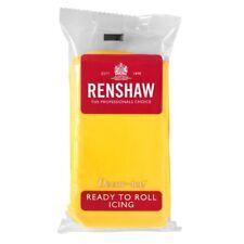 Yellow Renshaw Ready To Roll Icing Fondant Cake Baking Regalice Sugarpaste 2.5kg