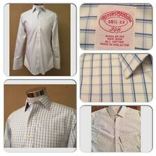 MINT COND BROOKS BROTHERS MENS 14.5-33 NON IRON FRENCH CUFF PLAID L/S SHIRT