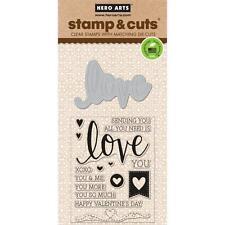 Hero Arts Stamp & Cut Love #835 DC175 Stamp with Die