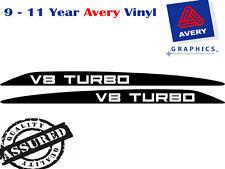 V8 TURBO Decal Sticker for Toyota Landcruiser 76 70 78 79 Series Bonnet scoop