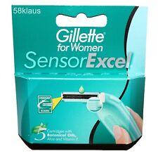 5x Gillette Sensor Excel for Women Klingen razor blades Gilette Gilete Frauen