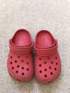 Children's / Kids Red CROCS, Size UK10