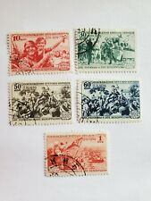 RUSSIA, 1939, set of 5 stamps, cancelled, hinged