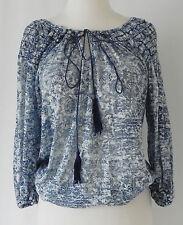 4427af8c2b7 Nurture Top 3/4 Sleeve Cotton Blend Hippie Tie Front Size S
