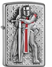 Zippo Feuerzeug Templer II Crusader Emblem Tempelritter Chrome brushed 2005918