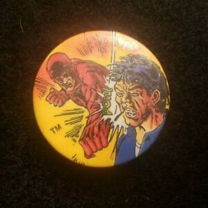 "Vintage Daredevil Matt Murdock Marvel Comics Pin Button Badge 1½"" Pinback 1987"