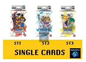 Digimon Card Game - STARTER DECK - Single Cards Singles ST1 ST2 ST3 ENGLISH TCG