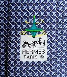 Hermes Tie Toupie NEW with TAG Spinning Top 646186