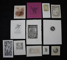25)Nr.182- EXLIBRIS,verschiedene Künstler,Tiefdrucke Konvolut 12 Blätter