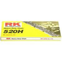 Motorrad Kette RK 520H mit 120 Rollen und Clipschloss offen