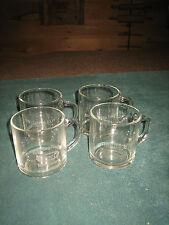 VINTAGE SET OF 4 CLEAR GLASS KRAFT GENERAL FOODS COFFEE/TEA GLASSES/MUGS~NICE~