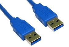 3 metre Blue USB 3.0 Std A Plug to A Male M/M Superspeed Cable 5GBPS Nickel/Gold