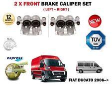 Para Fiat Ducato Multijet 2.0D 2.3D 3.0D 2006 - > 2X Delantero Izquierda Derecha Pinza De Freno