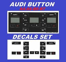 Audi A4 B6;B7 /A6 AC Buttons Climate Control Decals repair