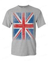 Union Jack Vintage T-Shirt Distressed UK Flag England Great Britain Shirts