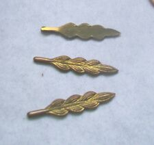 53 pcs. Brass Stamping,-RAW BRASS- SKINNY LEAF SHAPE