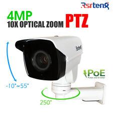 Rsrteng 4MP 10X Zoom PTZ IP Security Camera H.265 POE IR P2P IP66 TF Metal shell
