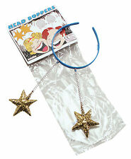 Blue Head Boppers With Gold Stars Adult Size Christmas Birthday Party Antennas