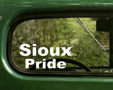 2 SIOUX INDIAN PRIDE STICKERs Decal Native American Car Truck Bumper Laptop