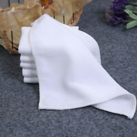 2/6/10x White Square Microfiber Car Cloth Towel Home Kitchen Wash Cleaning Cloth