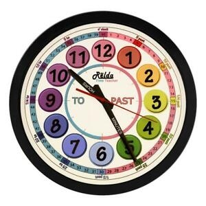 Relda Clear To Read Time Teacher Children's Bedroom/Classroom Wall Clock, REL127