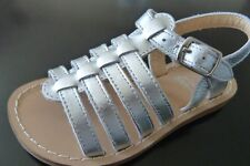 b5aba8e12512 New Mini Boden Metallic Silver Gladiator Sandals Shoes