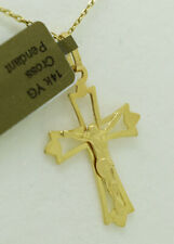 CRUCIFIX PENDANT NECKLACE 14K YELLOW GOLD ** Free Chain & Shipping ** NWT