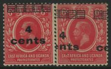 EAST AFRICA & UGANDA, MINT, #62,62 VAR, OG LH, NICE CENTERING